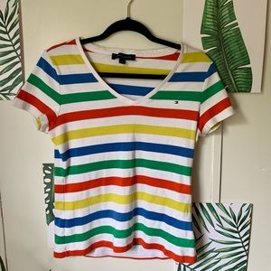 Rainbow striped Tommy Hilfiger Crewneck Shirt